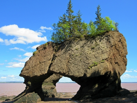 Flower Pot rock formations in the Bay of Fundy New Brunswick