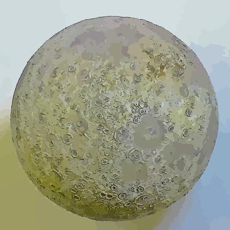 Graphic moon design