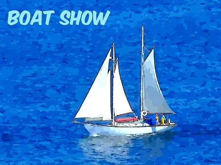dealerships: Boat Show Poster Graphic with design