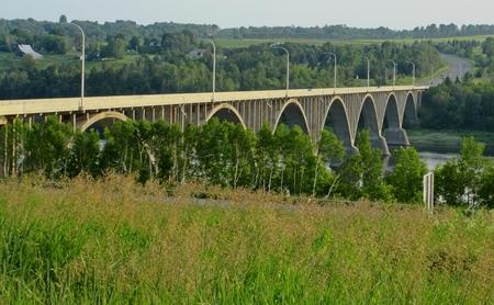 Bridge at Hartland New Brunswick Stock Photo