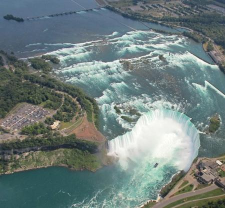 hugh: Aerial view of Niagara Falls