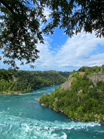 niagara river: Nature photograph of the Niagara River in Ontario.