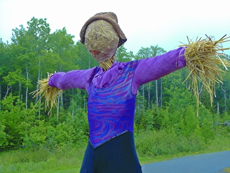 autumn scarecrow: Traditional scarecrow.