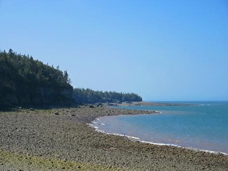 slack: Nova Scotia shoreline along the Bay of Fundy Stock Photo