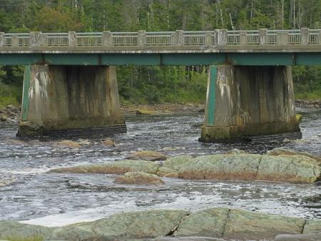 infrastructures: Secondary highway bridge in Nova Scotia in need of repair Stock Photo
