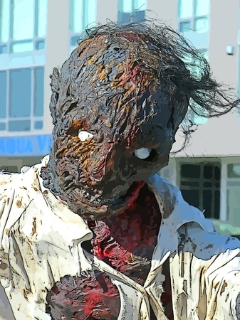Graphic depiction of a zombie