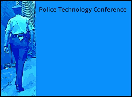 policing: Graphic poster design for Police Technology Conferences