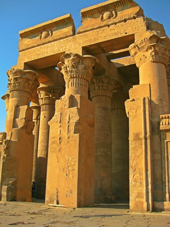 lintel: Example of Roman and Greek influence on Egyptian architecture.