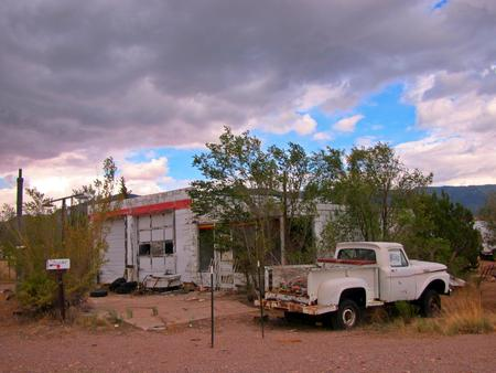 new mexico: Old abandoned property in New Mexico. Stock Photo