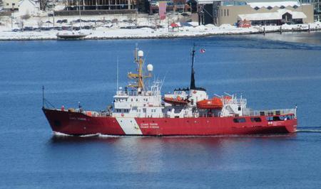 Canadian Coast Guard vessel Cape Roger in Halifax harbor.