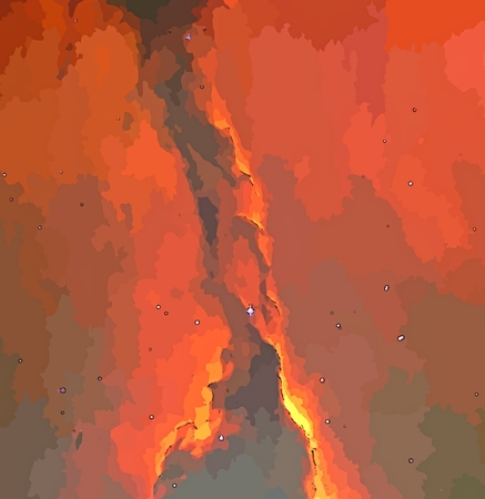 Graphic depiction of a column of stardust nebula.