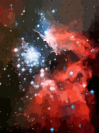 depiction: Graphic depiction of star clusters.