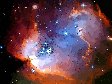 Graphic depiction of deep space.