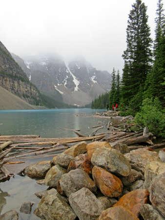 Beautiful Lake Moraine in Alberta Canada