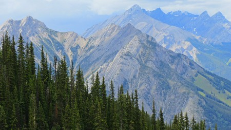 Beautiful mountains in the Rockies Stock Photo