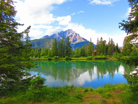 Beautiful lake in the Rocky Mountains Stock Photo