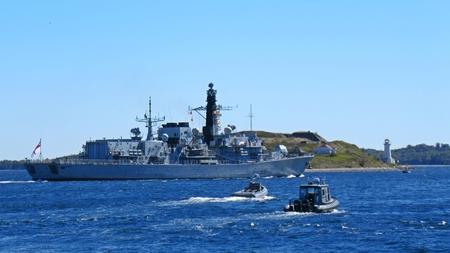 north atlantic treaty organization: Canadian Frigate leaving Halifax harbor to participate in 2016 NATO antisubmarine warfare exercises of Canadas Atlantic coast. Editorial