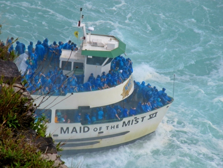 Famous Niagara Falls touring boat the Maid of the Mist
