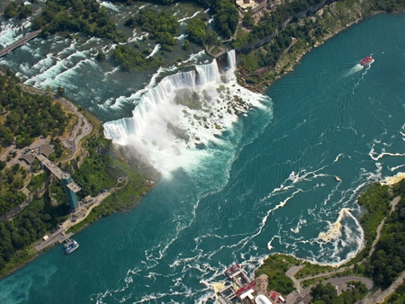 Aerial view of Bridal Falls New York