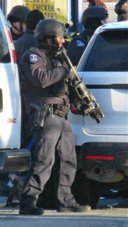 Halifax Police SWAT team member ready for action.