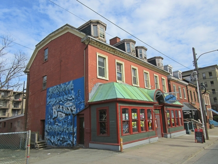 Bearly's House of Ribs and Blues in an old historic property in downtown Halifax, Nova Scotia, Canada.