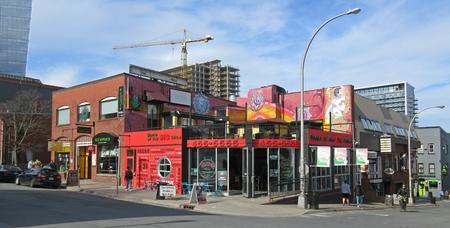 Locally famous Pizza Corner in Halifax, Nova Scotia, Canada. Editorial
