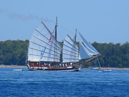 Unique sailing ship. Editorial