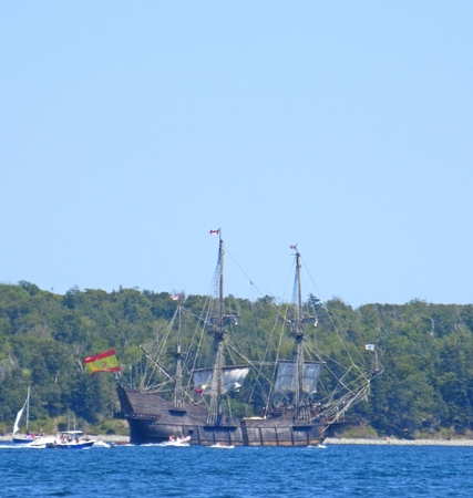 Spanish Galleon in Tall Ships PArade in Halifax Nova Scotia