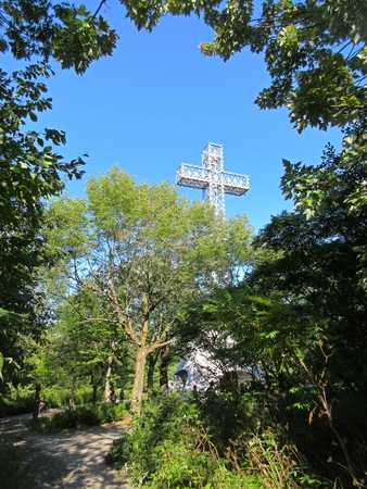 Cross on Mont Royal in Montreal Quebec.
