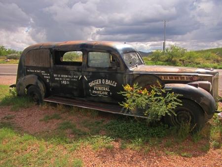 Fúnebre viejo en Lápida Arizona. Editorial