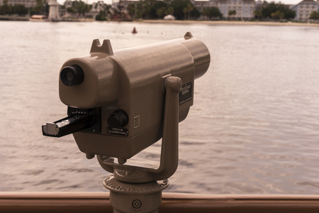 Long Distance Viewer For Tourist Sightseeing