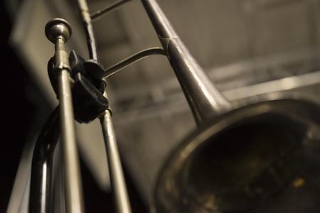 Vintage Classic Trombone On Stage