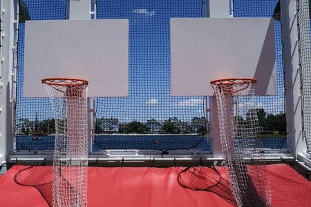 Basketball Games At The Carnival And Park In Red White Blue 版權商用圖片