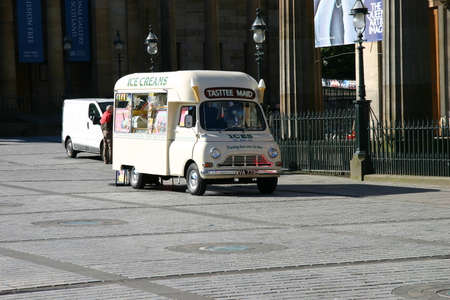 Edinburgh, Scotland, UK - August 18, 2011: BMC Ice Cream Van parked. Editorial