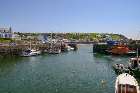 Portpatrick, Dumfries and Galloway, Scotland, UK - May 27, 2012: Portpatrick Lifeboat moored in the Harbour. Editorial