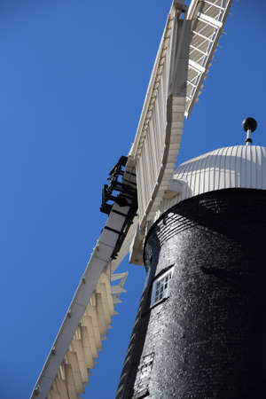 A view of the sails of Waltham windmill near Grimsby, North East Lincolnshire, England.