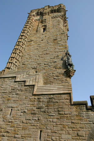 Stirling, Stirlingshire, Scotland, UK - September 15, 2011: Looking up the Wallace Monument in Stirling.