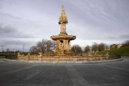 Glasgow, Scotland, UK - February 04, 2014:The Doulton Fountain at the Peoples Palace. Editorial