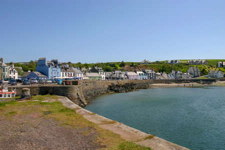 View across the harbour entrance area in Portpatrick, Dumfries and Galloway, Scotland.