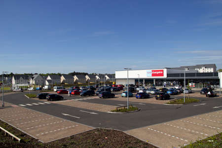 East Kilbride, South Lanarkshire, Scotland, UK - May 13, 2019: The new Home Bargains store on the old Rolls-Royce site in East Kilbride, South Lanarkshire, Scotland, UK.