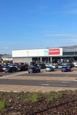 East Kilbride, South Lanarkshire, Scotland, UK - May 13, 2019: Home Bargains store in Mavor Avenue, East Kilbride, South Lanarkshire, Scotland, United Kingdom.