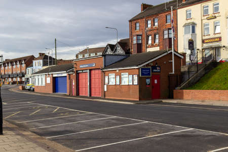 Cleethorpes, North East Lincolnshire, England, UK - August 18, 2020: The RNLI lifeboat station in Cleethorpes.