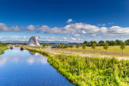The Kelpies and the Forth and Clyde Canal.