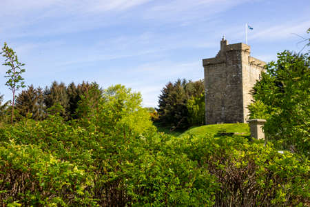 Mains Castle in East Kilbride, South Lanarkshire, Scotland.