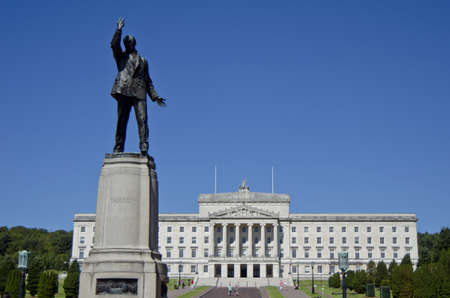 Lord Carson statue, Stormont Parliament Buildings, Northern Ireland photo