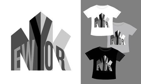 New York t-shirt and apparel design. Vector illustration. 向量圖像