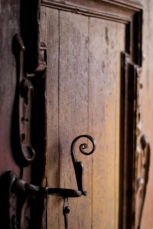 sidelight: Old wooden gate