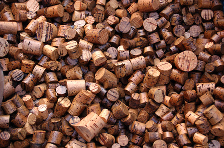 lot of corks! Large number of used wine corks. Good for background. photo
