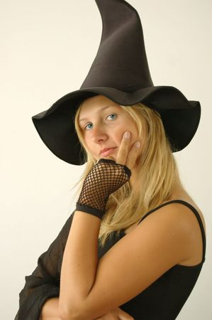 the enchantress: Pretty young witch. She put a spell on you :)