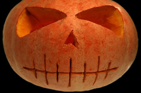 Spooky Halloween pumpkin Stock Photo - 1787826